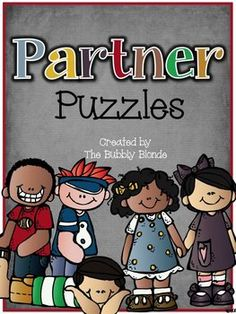 Partner Puzzle FREEBIE!! A great way to pair kiddos up for partner work! Simply hand out the puzzle pieces to kiddos and have them match up with their partner!