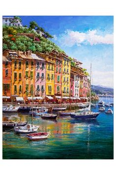 "S. Sam Park's ""Portofino Vista"" Giclee on Canvas - 18"" x 14"" by Fine Art Warehouse Blowout on @HauteLook"