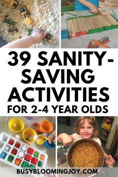 39 sanity-saving activities for toddlers & preschoolers to do at home (minimal prep, minimal mess)