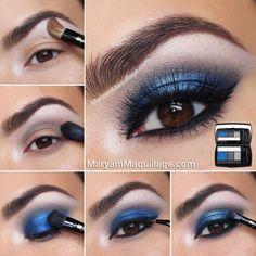 blaue augen schminken eine weitere variante mit blauem. Black Bedroom Furniture Sets. Home Design Ideas