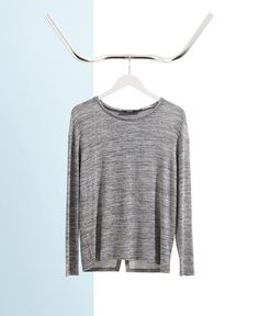 Tru scoop neck grey marl jersey summer jumper from The Cycling Store Summer Jumpers, Cold Weather, Knits, Knitwear, Cycling, Scoop Neck, Store, Sweatshirts, Grey