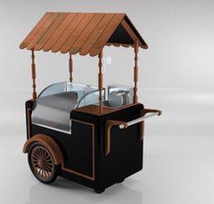Food Stall Design, Food Cart Design, Food Truck Design, Food Trucks, Coffee Carts, Coffee Shop, Mobile Food Cart, Bike Food, Mobile Cafe