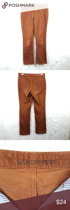 b8e90b1ae Lands End straight leg corduroys brown size 10 Lands end straight leg brown  corduroy pants in