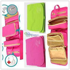 Viagem Camping Maquiagem Cosméticos produtos de higiene pessoal Bolsa Organizador (grande capacidade desdobramento)