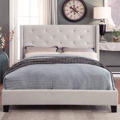 Elsmoriet Velvet Queen Upholstered Platform Bed by Mercer41u2122