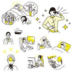 doisena_201605_05 Japan Illustration, Simple Illustration, Illustration Sketches, Illustrations And Posters, Character Illustration, Graphic Design Illustration, Simple Line Drawings, Easy Drawings, Cartoon Drawings