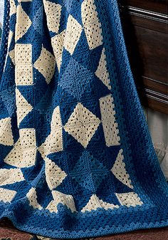Leisure Arts - Star Granny Afghan Crochet Pattern ePattern, $4.99 (http://www.leisurearts.com/products/star-granny-afghan-crochet-pattern-digital-download.html)