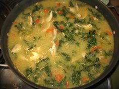 Hearty, healthy, paleo chicken soup - enough for a large group or several meals for one or two folks.