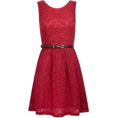 This Yumi lace sleeveless dress looks great paired with heels and a clutch for a night out. The bow detailing on the belt adds an extra Yumi touch.