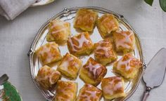 Traditional South African Tamboesies recipe - delightful pastry pockets with a milk tart filling and lemony icing. Milk Tart, Tart Filling, Icing Ingredients, Vanilla Cake Mixes, Cake Mixture, Decadent Cakes, South African Recipes, Milk And Eggs, High Tea