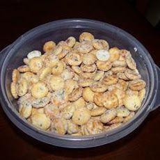Seasoned Crackers Joanns tip... Use orville redenbacher butter oil instead of reg oil...