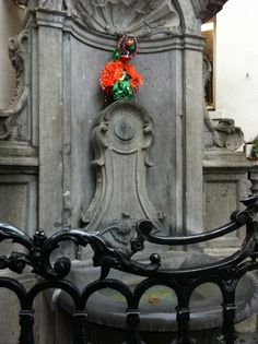 "Photo The famous ""Maneken Pis"" down the street from the AB in Brussels, Feb 2012 Manneken Pis, Photo Journal, Journal Entries, Brussels, Abs, Street, Photo Diary, Crunches, Journal"