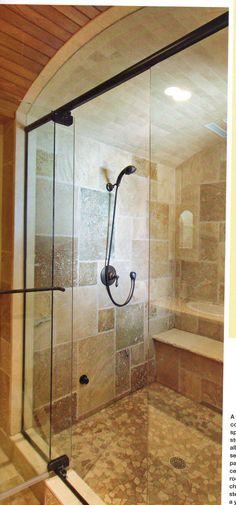 Arched steam shower