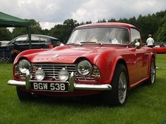 Triumph TR4-1964 I had my first ride in one of these age 10 in Spain. I thought it was the fastest car in the world at the time.... It was amazing... It was the year the UK won the World Cup in football.