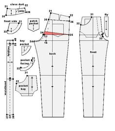 Pattern for jeans