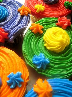 ✯ Colored Cupcakes .. By Perry Aragon✯