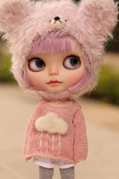 Petite.Doll hand-knitting cloud sweater for Blythe                                                                                                                                                                                 More
