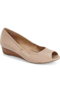 Naturalizer Contrast Peep Toe Wedge Available At Nordstrom WedgesWedding ShoesPeepsNordstrom