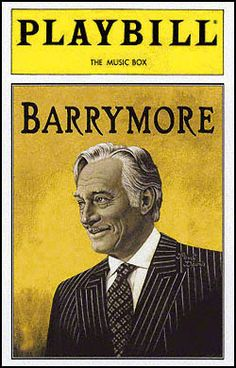 Playbill Cover for Barrymore at Music Box Theatre - Opening Night 1997