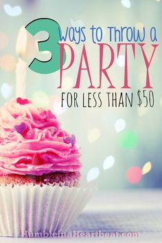 Keeping your budget in check while planning a child's birthday party can be a real challenge. If you implement these three ways to lower costs, you'll spend less and still have a great party for your child! Birthday Fun, Birthday Party Themes, Birthday Ideas, Inexpensive Birthday Party Ideas, Birthday Activities, Diy Party, Party Favors, Ideas Party, Party Hats