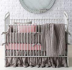 Frayed Voile Nursery Bedding Collection | RH baby&child