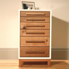 Bedside Chest - handles and white line - possibly do the RAST ikea dresser like this