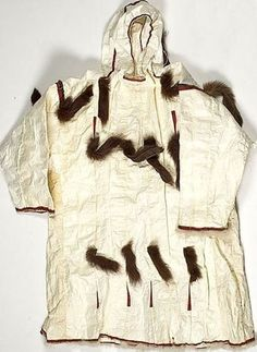 Seal gut parka. Эскимосы. ‍♀️INUIT  ART / NATIVE AMERICAN ART  More Pins Like This At FOSTERGINGER @ Pinterest‍♀️