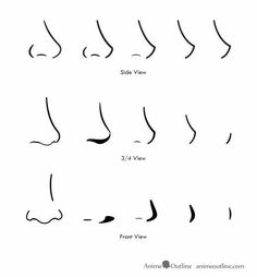 Anime noses, text; How to Draw Manga/Anime