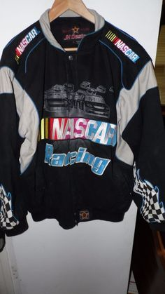 NASCAR RACING JACKET EMBROIDERY EMBLEMS PATCHES J H DESIGN SIZE L…