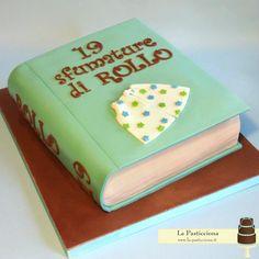 la torta a forma di libro per rendere più dolce ogni lettura! www.la-pasticciona.it