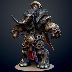 Ganesha the warrior by Iniyan