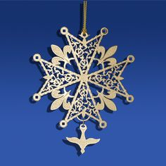 Known as a symbol of religious loyalty, this cross is both beautiful and symbolic. This ornament makes a beautiful gift!