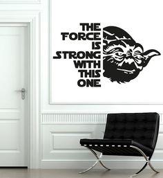 Wall Decals Quote Yoda The Force Is Star Wars Decal Vinyl Sticker Home Decor Interior Design Nursery Baby Room Decor Art Murals Dear Buyers,