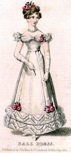 Бальное платье, 1825 год