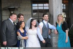 Human Armrests - absolutely Key for staging the perfect wedding photo.