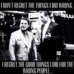 I regret... Nothing.