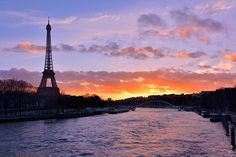 Paris : View from Pont de l'Alma by AditChandra