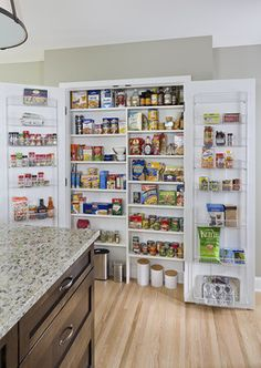 Simple and Stylish - traditional - Kitchen - Minneapolis - remodel by Sicora Design Build. Pantry idea.