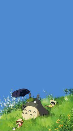 Studio ghibli,my neighbor totoro,hayao miyazaki Art Studio Ghibli, Studio Ghibli Films, Studio Ghibli Characters, Studio Ghibli Quotes, Anime Scenery Wallpaper, Cute Anime Wallpaper, Wallpaper Backgrounds, Iphone Wallpaper Totoro, Art Anime