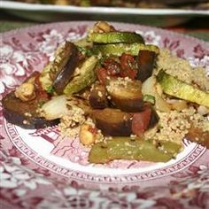 tastycookery | Grilled Vegetables in Balsamic Tomato Sauce with Couscous