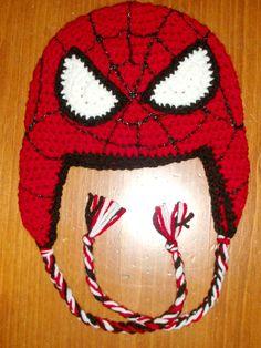 Resultado de imagen para gorros tejidos de hombre araña