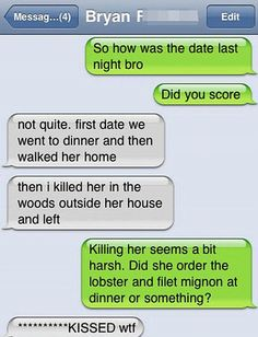 At least this lothario didn't text his date this message blunder