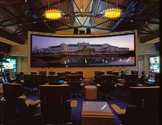 Gaylord Texan Contemporary Sports Bar: I need this screen right now!!! Install please!! <3