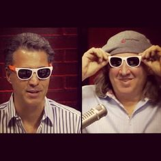 Tom and Tony rocking their #doughtrading shades on the show today. http://tastytrade.com #tastytrade #tastygram