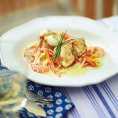 Seeteufel mit Garnelensauce Rezept | Küchengötter
