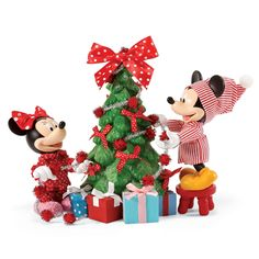Disney Department 56 Mickey & Minnie Christmas Tree Hung with Care New with Box Disney Christmas Village, Mickey Christmas, Christmas Town, All Things Christmas, Christmas Holidays, Christmas Ornaments, Christmas Trees, Merry Christmas