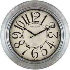 This Better Homes And Gardens Galvanized Wall Clock From