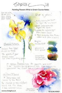 watercolor tips and trick Watercolor Sketch, Watercolor Cards, Watercolour Painting, Watercolor Flowers, Painting & Drawing, Watercolours, Painting Flowers, Watercolor Pencils, Watercolour Tutorials