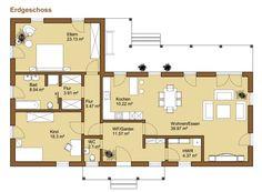 Grundriss bungalow l-form  Bungalow Grundrisse … | häuser | Pinterest | Bungalow Grundrisse ...