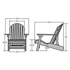 Highwood Eco-friendly Synthetic Wood King-size Folding and Reclining Adirondack Chair Adirondack Rocking Chair, Adirondack Chair Plans, Outdoor Furniture Plans, Plastic Adirondack Chairs, Rustic Furniture, Patio Chairs, Outdoor Chairs, Outdoor Dining, Dining Chairs